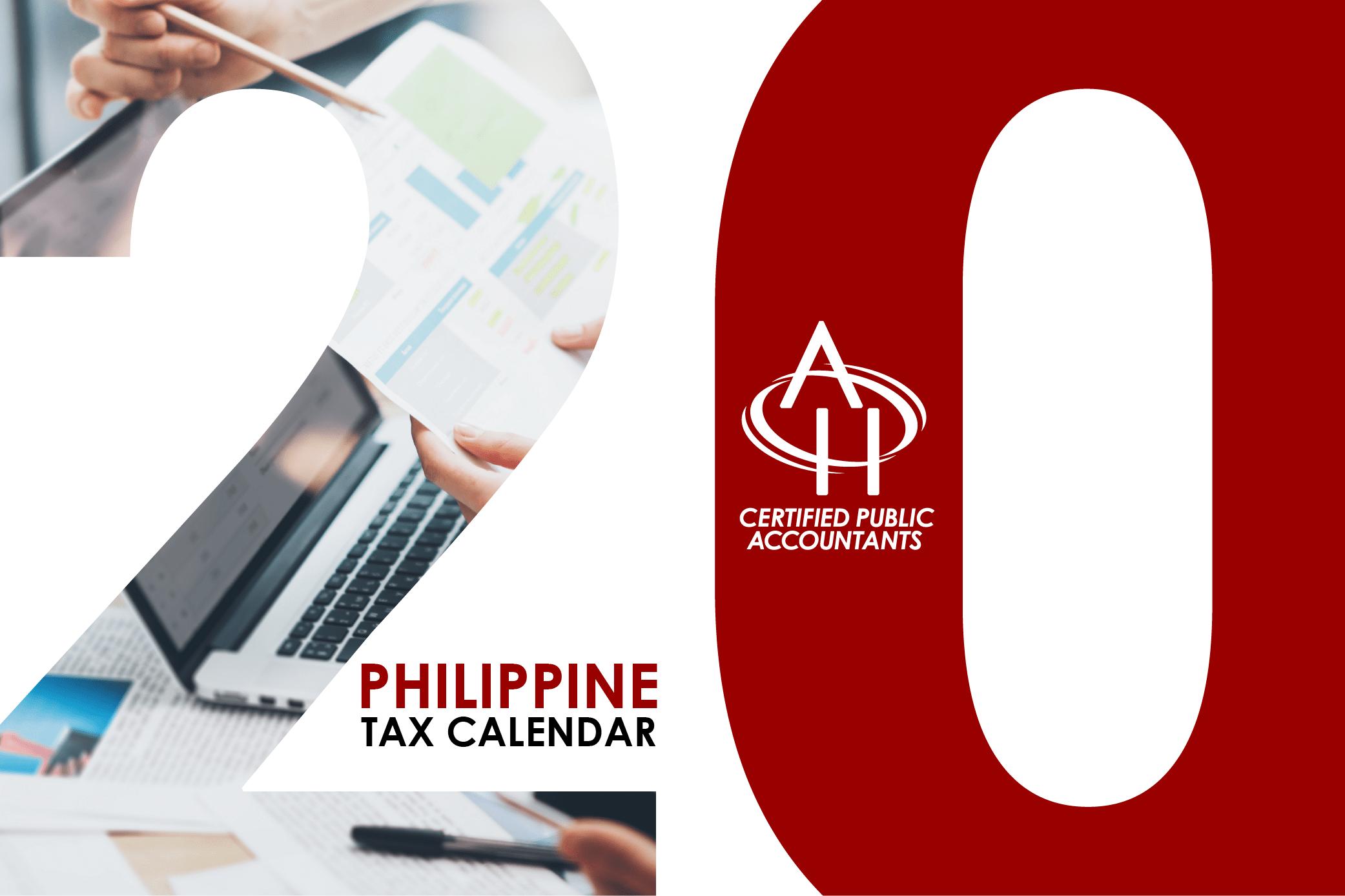 Philippine Tax Calendar 2020 tmb