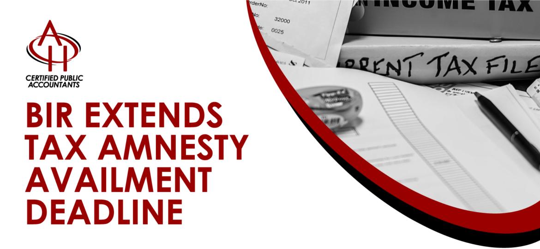 Tax Amnesty Availment Deadline