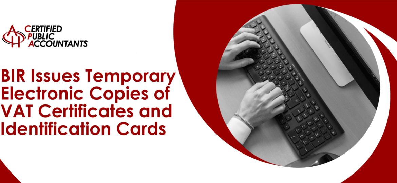 BIR Vat Certificates Identification Card
