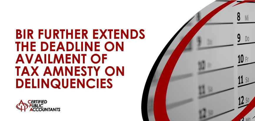 Tax Amnesty on Delinquencies