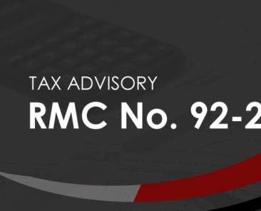BIR RMC 92-2021