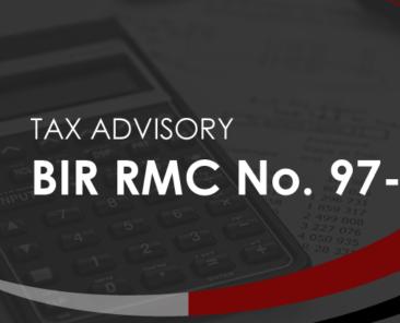 BIR RMC No. 97-2021
